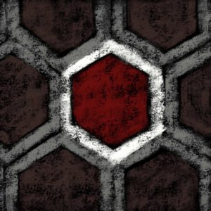 hexagon red chalk lurm
