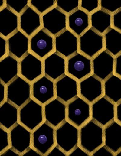 hexagons black and yellow lurm