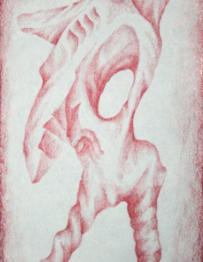 organic form: axehead biped