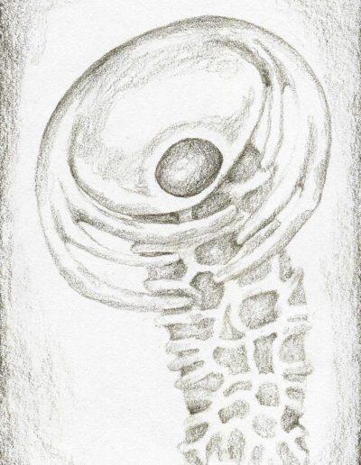 organic form: space mushroom