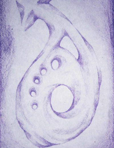 organic form: arrow snail