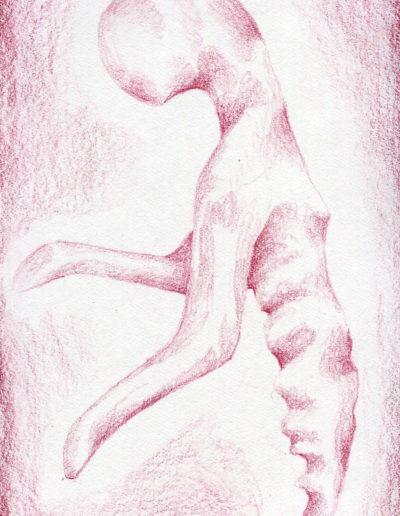 organic form: red alien torso