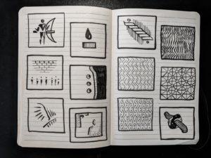 minimal drawing: spread 2