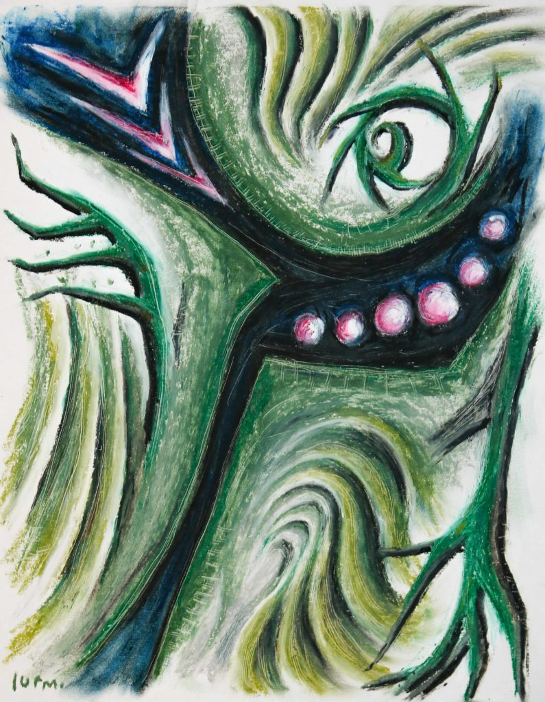 it already knows oil pastel drawing by lurm